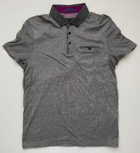 Tes Baker London 4 Mens Grey Polo Shirt Large