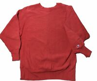 VTG 90s Champion REVERSE WEAVE Red Crewneck Sweatshirt Men's Size Large USA MADE