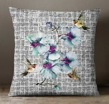 S4Sassy Floral Printed Square Cushion Multicolor Decorative Throw Pillow Cover