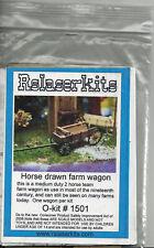 HORSE DRAWN FARM WAGON O On30 Model Railroad Unpainted Wood Laser Kit RSL1501T