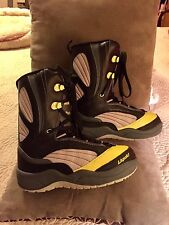 Men's Liquid Black/Yellow Hot Rod Snowboarding Boots/Size 8/Sturdy/Worn Once!