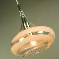 Pendel Leuchte Doria Glas Hänge Lampe Spirali Tulip Pendant Light 70er Size M