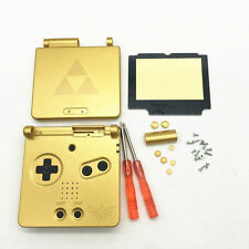 GBA SP Game Boy Advance SP Housing Shell GLASS Screen Lens Zelda Triforce Gold