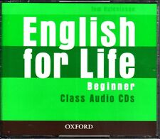 Oxford ENGLISH FOR LIFE Beginner CLASS AUDIO CDs / Tom Hutchinson @NEW Sealed@