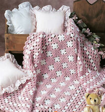 "Crochet Pattern- Blanket pattern in Aran weight wool-42 x 58"" when complete"
