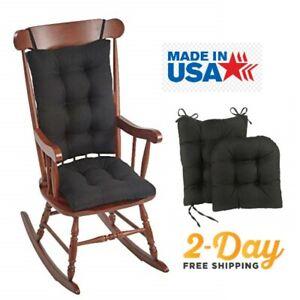 "The Gripper Non-Slip Omega Jumbo Rocking Chair Cushions, 17"" x 17"", Midnight"