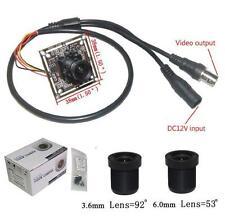 "Sunvision 960TVL 1/3"" Sony 960H HD Board Camera + 3.6 & 6.0mm M12 Lenses (B01B)"