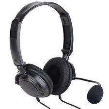 Double Earmuff VOX Headset Foldable Overhead Noise Cencelling for Kenwood Radio