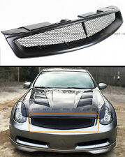 FITS 2003-2007 INFINITI G35 2DR COUPE V35 MATT BLACK JDM FRONT MESH GRILL GRILLE