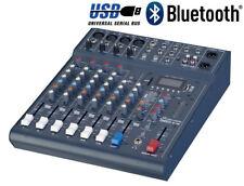Studiomaster Club XS8 - 8 Input Live Mixer With USB and Bluetooth DJ Duo Mixer
