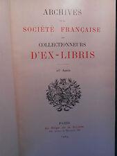 Société Française des Collectionneurs d'Ex-Libris - 1919-1922.