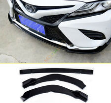 For Toyota Camry 2018 SE/XSE Gloss Black ABS Front Bumper Lip Cover Trim 3Pcs