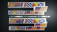 flags MONTEREY boat 2x(70x6cm) and 2x(52x4.4cm) + FREE FAST delivery DHL exp