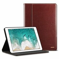 Apple iPad Pro 10.5 2017 Case Leather Folio Stand Cover Pencil Holder Brown