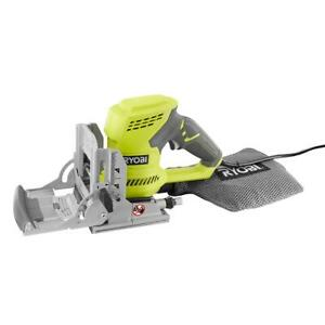 RYOBI 6 Amp AC Biscuit Joiner Kit with Dust Collector #1075