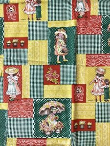 Vintage Holly Hobbie Manes Fabric 3 Yards American Greetings Cotton Quilting New