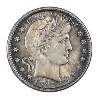 1897 Barber Quarter About Uncirculated Condition