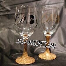 personalize wine glass, custom wine glass, decorated wine glass