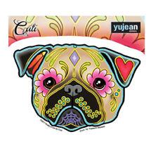 Pug Dog Breed Sticker Decal Car Window Laptop Sugar Skull Cali Pretty In Ink