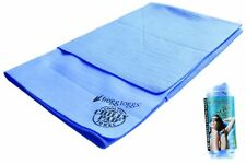 Frogg Toggs super chilly cooling towel W/SPF 50+ (blue) 33 inch x 25 inch NEW