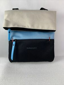 Sherpani Pica Crossbody Shoulder Essentials Bag Ivory/Blue/Black