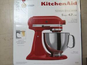 New Kitchen Aid Artisan Series 5 Quart Tilt-Head Stand Mixer - Empire Red