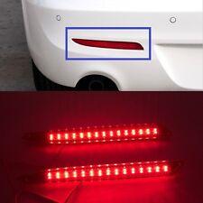 Red lens LED Rear Bumper Reflector Light Lamp For Mazda3 2010 2011 2012 2013