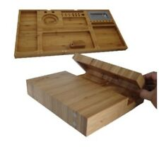 Raw Triple Flip Magnetic Bamboo Rolling Tray