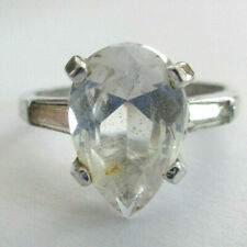 3.50 Grams Size 7.75 Silver Cz Engagement Ring