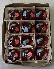 älterer Weihnachtsschmuck Christbaumschmuck 12 Kugeln Klarglas rot christmas