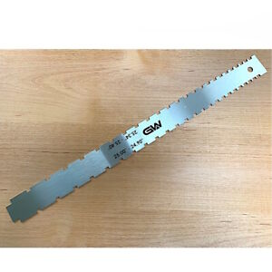 """G&W Dual Notched Guitar Neck Straight Edge 25.00""""-24.90""""/25.34""""-25.40"""" TDSN02"""