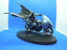SUPER EROI Figurine Plomb Super-héros DC Comics BATMAN MOTO BATCYCLE Eaglemoss