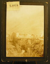 Foto c 1900 route il San Gottardo vista di goscherren Fotografia antica