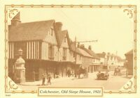 Reproduction Vintage 1921 Postcard, Colchester, Old Siege House 79T