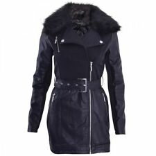 Faux Fur Knee Length Casual Coats & Jackets for Women