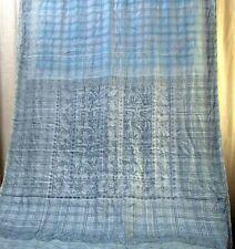 Pure silk Antique Vintage Sari HUCE LOT 4y T13 267 Grey DECOR #ABD2N