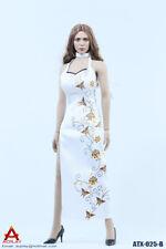ACPLAY White Chinese Qipao Dress Accessory for 1/6 Female Figures ATX025B