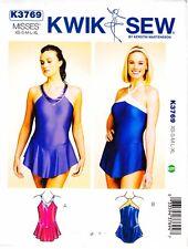 Ballet Leotard XS - XL Sewing Pattern Skirt Skate Dance KWIK SEW UNCUT OOP 3769