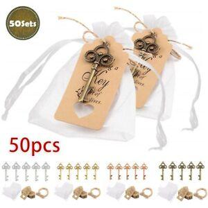 50pcs Hochzeit Party Geschenk Vintage Schlüssel Flaschenöffner Geschenk Anhänger