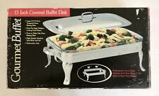 GOURMET BUFFET 13 Inch Covered Dish Stainless Steel Professional Quality NIB