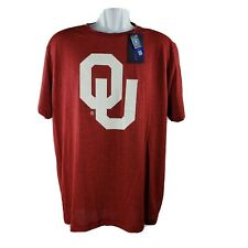Oklahoma Sooners OU T-Shirt L Red White Short-Sleeve Performance University NWT!