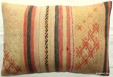 (40*60cm, 16*24cm) Textured handmade pillow cover Tribal lines Morrocan look