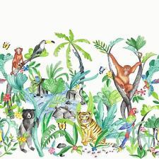Jungle Mania Wallpaper Multi - Arthouse 696008 Tiger Kids