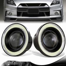 "3.5"" White Angel Eyes Halo Projector Lens LED COB Bulb DRL Fog Light For BMW"