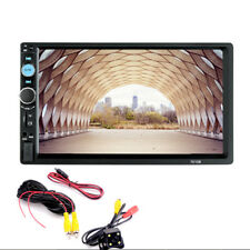 "7"" 2DIN Bluetooth HD Car Multimedia FM Radio DVD CD MP5 Player+Rear View Camera-"