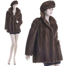 Very Sweet & Pretty Whiskey Black Mink Fur Jacket w/Free Beret Style Mink Hat