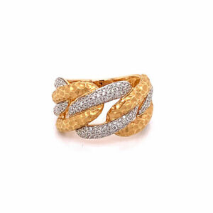 Modern Diamond Gold Link Ring-Band 18k Rose Gold NOW ONLY $1400!!!