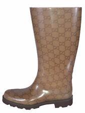 NEW Gucci Women's Edimburg 248516 Rubber GG Guccissima Rain Boots Shoes 35 5