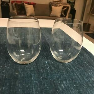 SET of 2 SUPERB Riedel O CABERNET WINE TUMBLERS Stemless Glasses MINT CONDITION