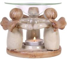 Angel Circle Ring Holding Hands Oil Burner or Tea Light Candle Holder Friendship
